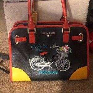 NWOT Embellished Nicole Lee bicycle purse